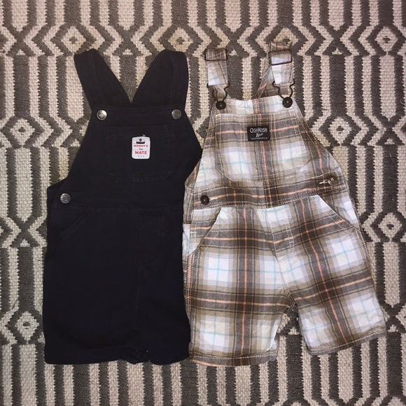 Carter's Other - Toddler overalls plaid and navy carters/osh kosh